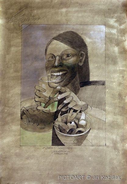 """Limitované edice  fotografie s názvem """"Zelený (zelný) čaj"""" <span class=""""note"""">(autor: Jiří Kožíšek)</span>"""